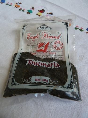 Toucmaria alouda ; toucmaria ; agar-agar dans Bouffe et boissons de l'Ile Momo